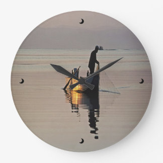 Evening Fishing Clock