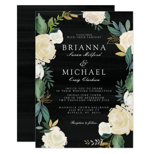 Evening Garden Floral Card