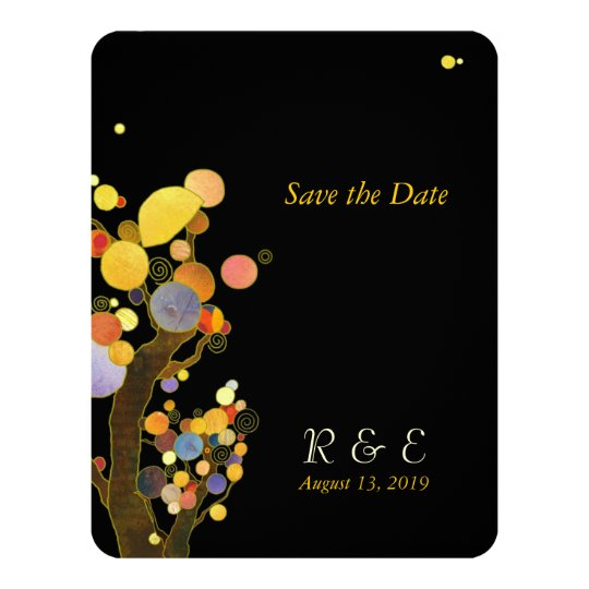 Evening Garden Trees Wedding Card
