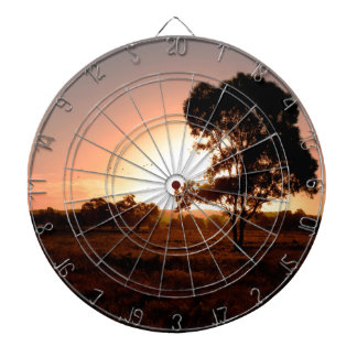 Evening Gold Dartboard