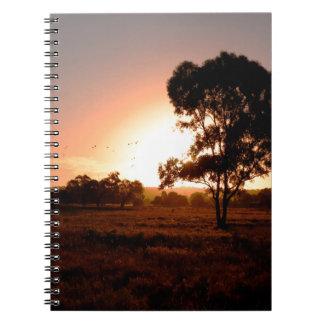 Evening Gold Spiral Notebook