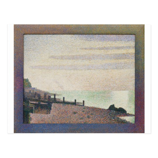 Evening Honfleur by Georges Seurat Postcard