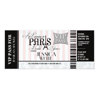 "Evening in Paris Bridal Shower Invitations 4"" X 9.25"" Invitation Card"