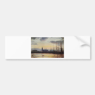 Evening in the Harbour by Ioannis Altamouras Bumper Sticker
