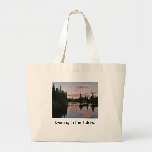 Evening in the Tetons Tote Bags