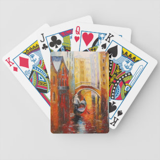 Evening in Venice Bicycle Playing Cards