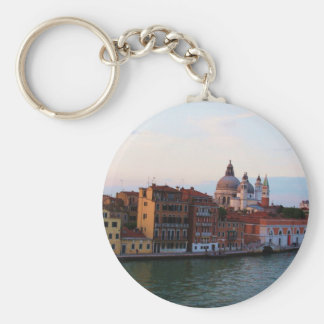 Evening in Venice, Italy Basic Round Button Key Ring