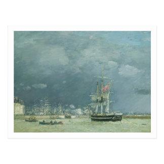 Evening, Le Havre, 1866 (oil on canvas) Postcard