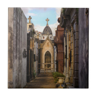 Evening Light In Recoleta Cemetery Tile