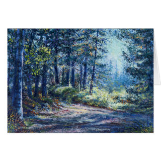 """Evening Light On the Trail"" Blank Note Card"