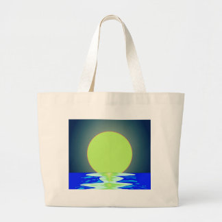 Evening Ocean Reflections Large Tote Bag