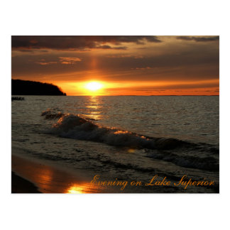 Evening on Lake Superior Postcard