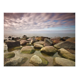 Evening on shore of the Baltic Sea Art Photo