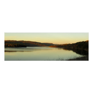 Evening on the Cowanesque Lake Poster