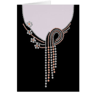 Evening Out Series  Black Gown and Jewels 4 Greeting Card