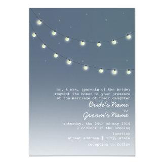 Evening Outdoor Wedding - String Of Lights Card