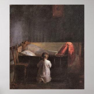Evening Prayer by Anna Ancher Poster