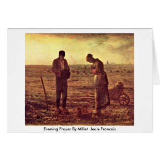 Evening Prayer By Millet (Ii) Jean-Francois Card