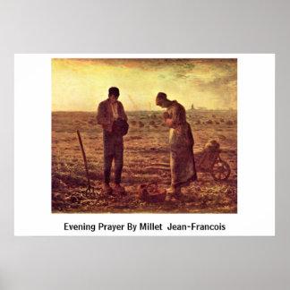 Evening Prayer By Millet (Ii) Jean-Francois Poster