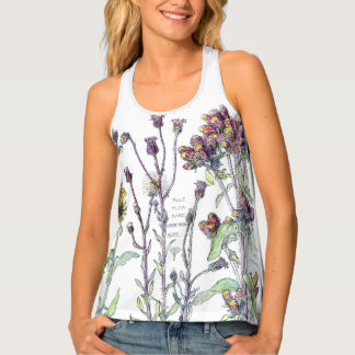 Evening Primrose Wildflower Flowers Herbs Tank Top