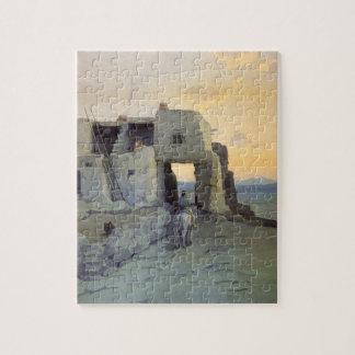 Evening, Pueblo of Walpi by Marion Kavagh Wachtel Jigsaw Puzzle
