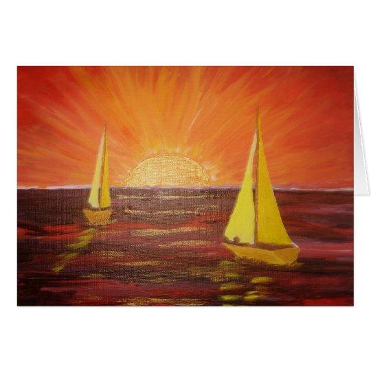 Evening Sail - Greeting Card