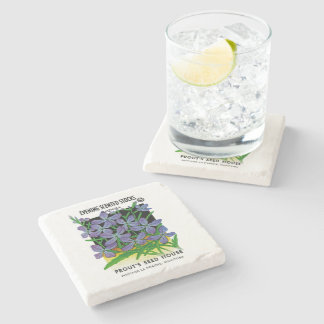 Evening Scented Stocks Stone Coaster