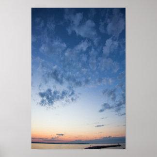 Evening Sky, Elk Rapids, Michigan Poster