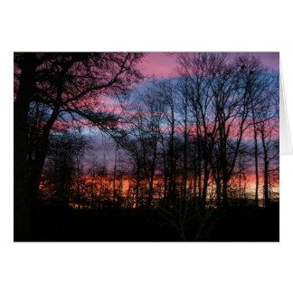 Evening Sky In Denmark Card