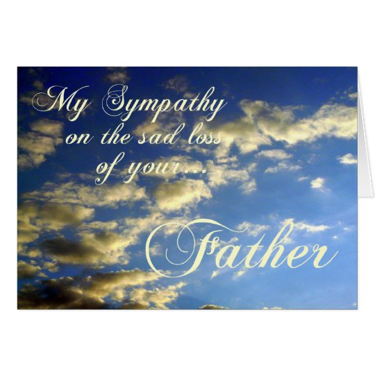 Sympathy Quotes For Loss Of Husband And Father: Evening Sky/Sympathy-Loss Of Father Card