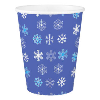 Evening Snowflakes Paper Cup
