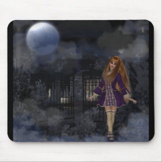 Evening Stroll Gothic Fantasy Redhead Girl Mouse Pad