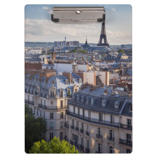 Evening sunlight over the buildings of Paris Clipboard