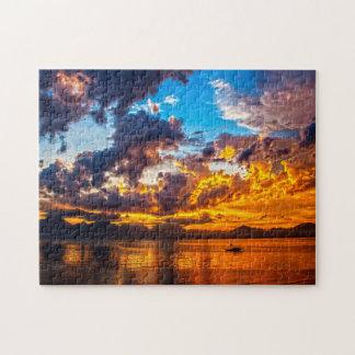 Evening Sunset. Jigsaw Puzzle