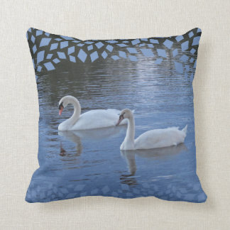 Evening Swans Pillow