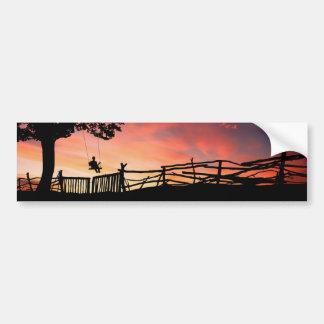 Evening Swing Bumper Sticker