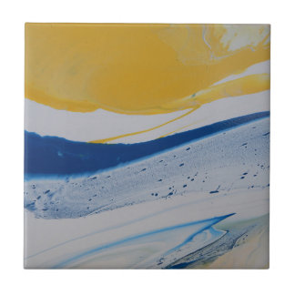 Evening tide small square tile