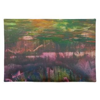 Evening unfurls over landscape placemat
