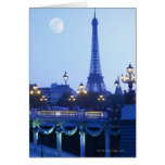 Evening View of Eiffel Tower Cards