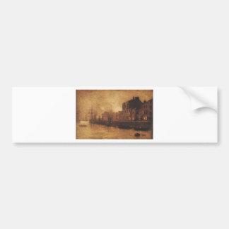 Evening, Whitby Harbour by John Atkinson Grimshaw Bumper Sticker