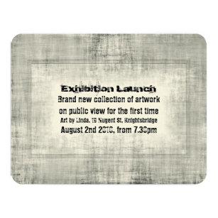 Exhibition invitations announcements zazzle au event invitation exhibition art launch promotion stopboris Gallery