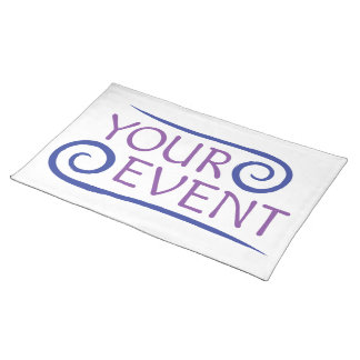 Event Logo Placemat Promotional Custom Printed