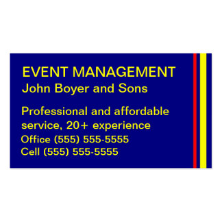 Event management business cards