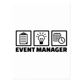 Event manager postcard