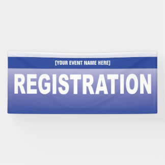 Event or Conference Registration Table Banner