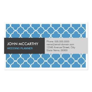Event Planner - Modern Blue Quatrefoil Pack Of Standard Business Cards