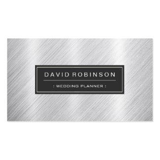 Event Planner - Modern Brushed Metal Look Pack Of Standard Business Cards