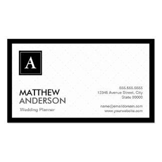 Event Planner - Modern Grid Monogram Pack Of Standard Business Cards