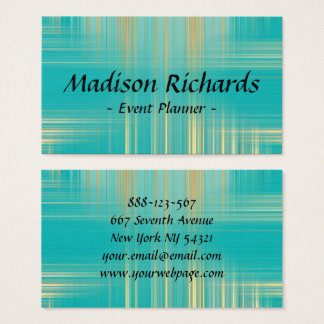 Event Planner Modern Turquoise Pattern Business Card