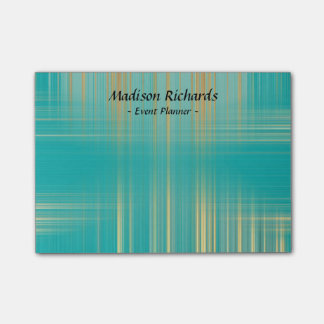 Event Planner Modern Turquoise Pattern Post-it Notes
